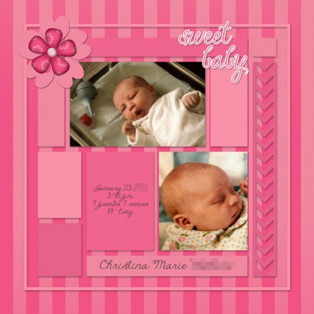 All About Me Album {Tina}: Birth, Page 1