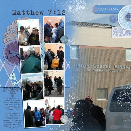 Family Album 2014: Matthew 7:12 (Christmas Day)