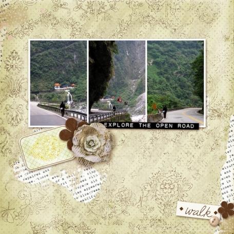 travel digital scrapbook page