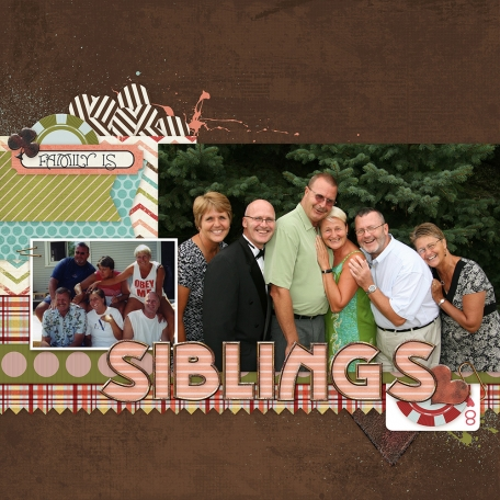 siblings digital scrapbook layout by Marisa Lerin