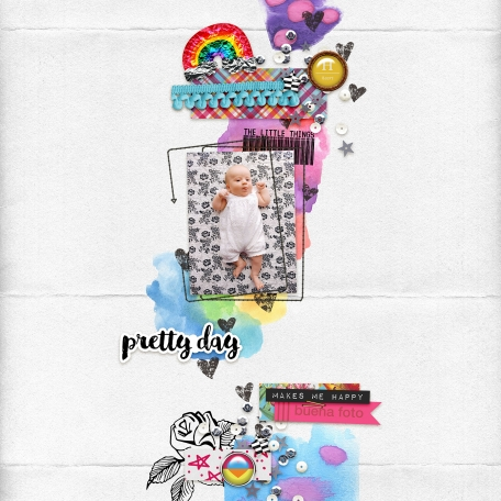 bright baby digital scrapbook layout