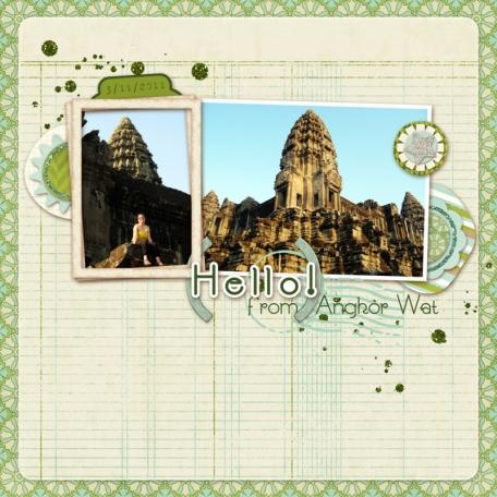 Hello! from Angkor Wat