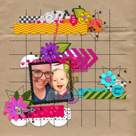 bright and fun digital scrapbooking layouts