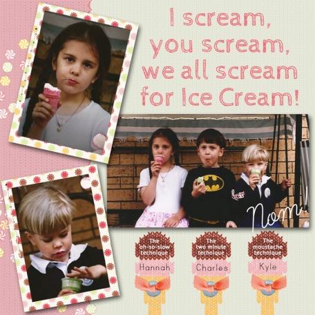 I Scream, You Scream - The Technique of Eating Icecream