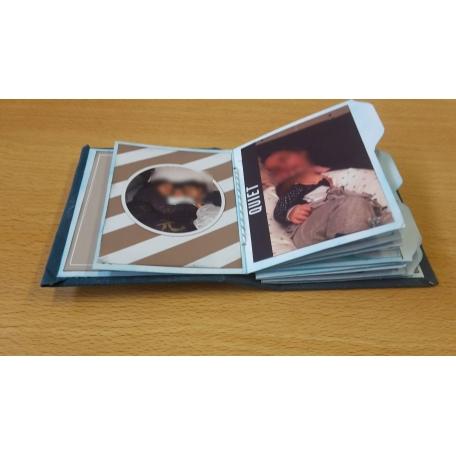 pocket card mixed media mini album a few pages 2