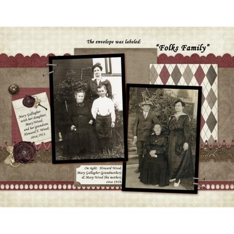 47 'Folk's Family' Envelope