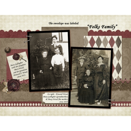 47 'Folk's Family' Envelope