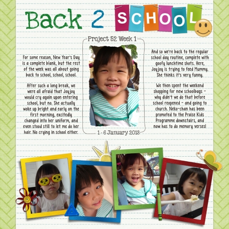 Project 52 Week 1 - Back 2 School