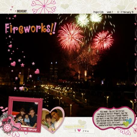 Project Life Week 7 Fireworks!! (left side)