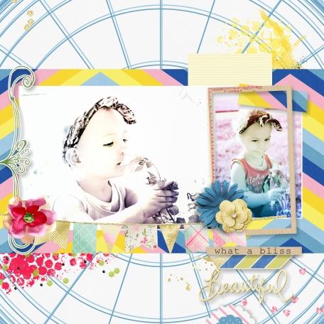 Template Layout - Blue Skies and Lemonade