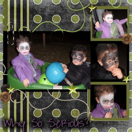 Why So Serious? Halloween Layout.