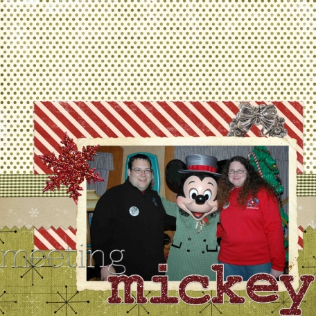 Meeting Mickey at Mickey's Very Merry Christmas Party