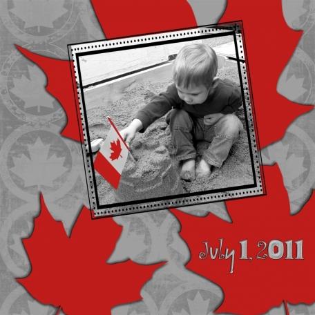 Canada Day B&W