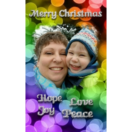 Rainbow Christmas Card 2011
