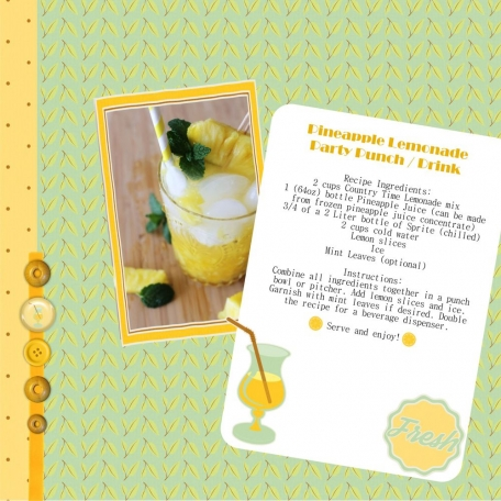 Pineapple Lemonade Party Punch