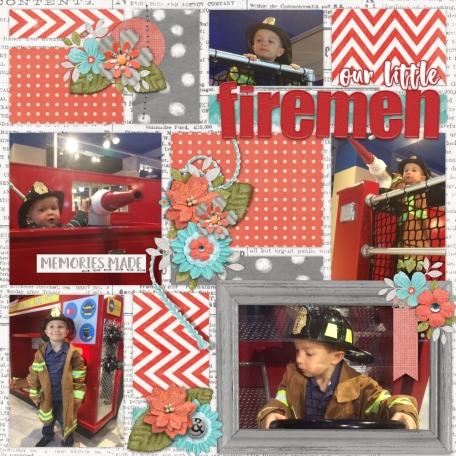 our little FIREMEN