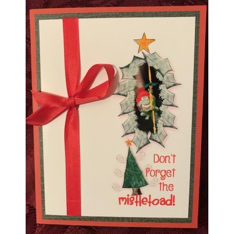 mistletoad christmas card - Christmas Card Layout