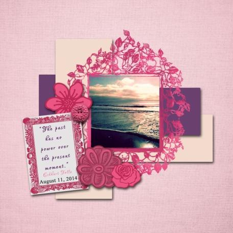 Think Pink Freebie Layout 01