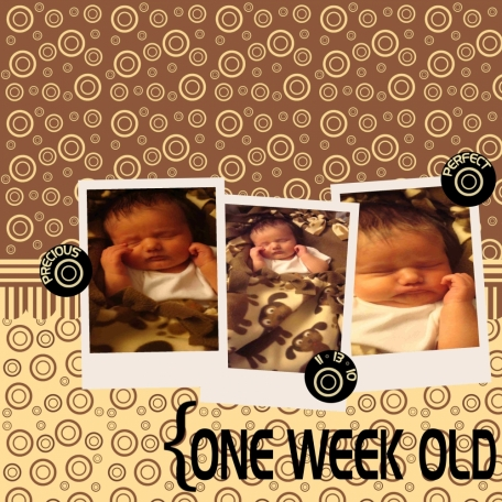 One Week Old