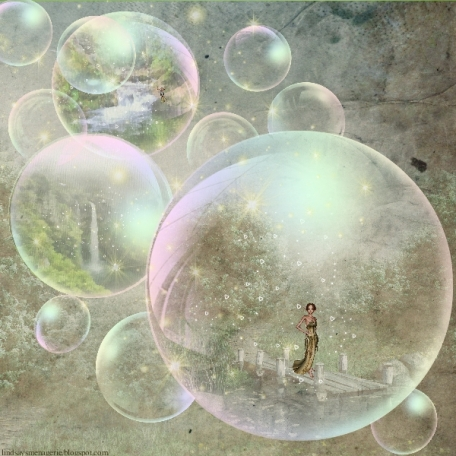Blue Bubbles in movement