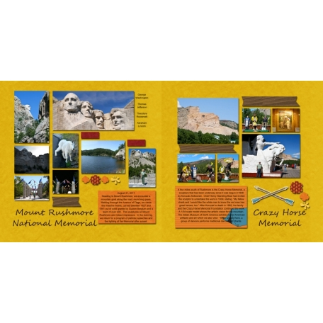 Mount Rushmore and Crazy Horse Memorials
