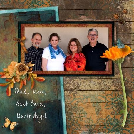 Dad, Mom, Aunt Carol, Uncle Angel
