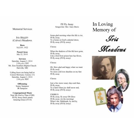 Iris Meadows 3 Fold Brochure Cover Color