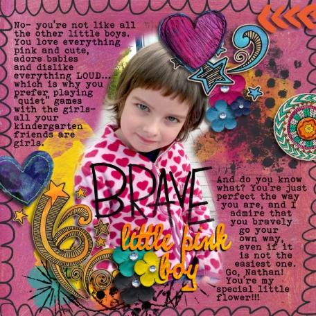 Brave Little Pink Boy