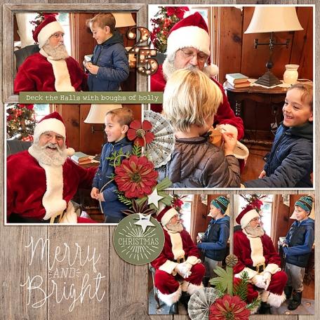 Visiting Santa(left)