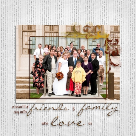 (wedding book page 11) friends and family who love us