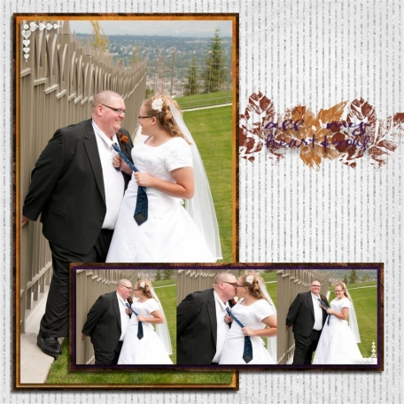 (wedding book page 31) tie kiss