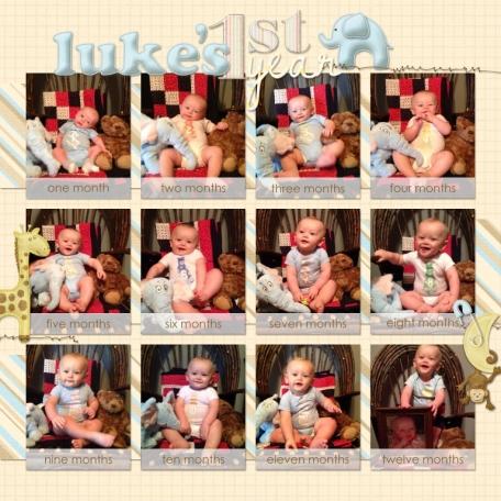 Luke's 1st year