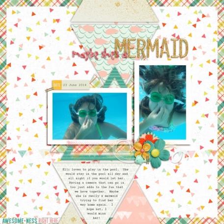 maybe she's a mermaid