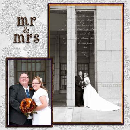(wedding book page 19) mr. & mrs.