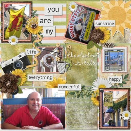 Yellows and greens scream spring! Fun flowers, sunshine, windows open wide and a bicycle! Jill's done it again. Miss Mel has some fantastic templates and she's succeeded again. Love those templates that work for pockets, but can fit with other styles too
