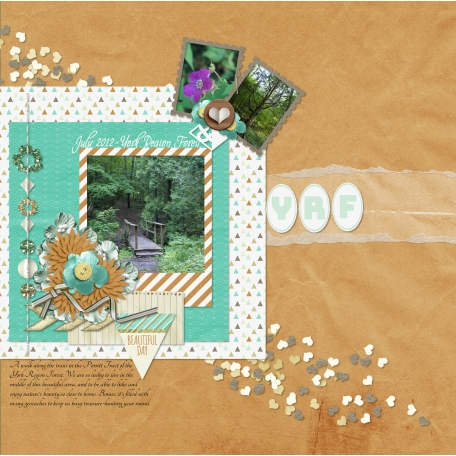 forest brown hearts layout