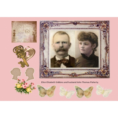 Ellen Elizabeth Siddons and John Thomas Flaherty Scrap page
