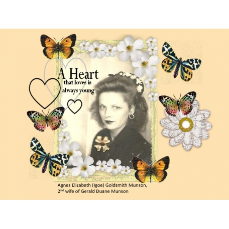 Agnes Igoe Goldsmith Munson scrap page