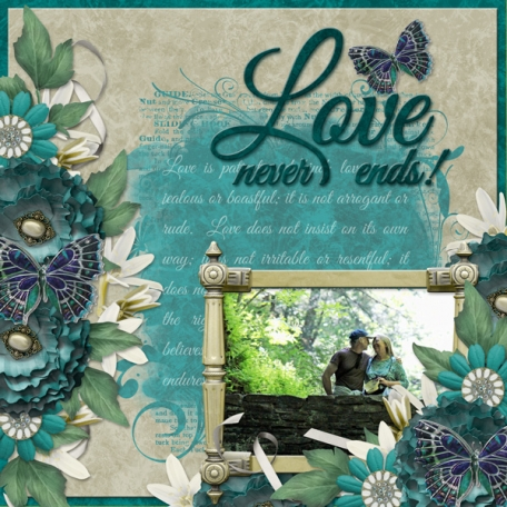 Love never ends! (Over the Fence Designs)