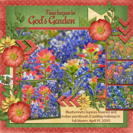 Time began in God's Garden (ads)