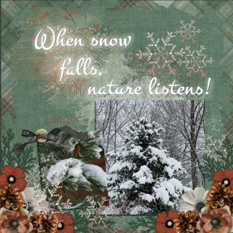 When snow falls, nature listens!