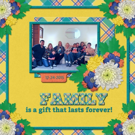 FAMILY is the gift that lasts forever!  (WD)