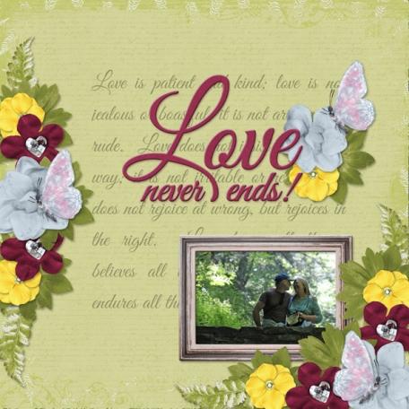 Love never ends! (JDunn)