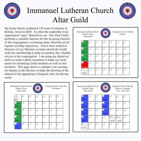 Immanuel Lutheran Church Altar Guild 2