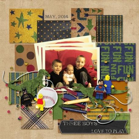 3 Boys Love to Play