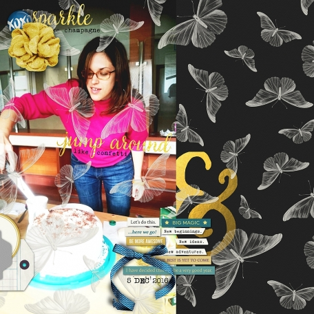 Birthday layout made with Best Is Yet To Come 2017 digital scrapbook, project life, pocket scrapping kit by Scrumptiously at Pixel Scrapper