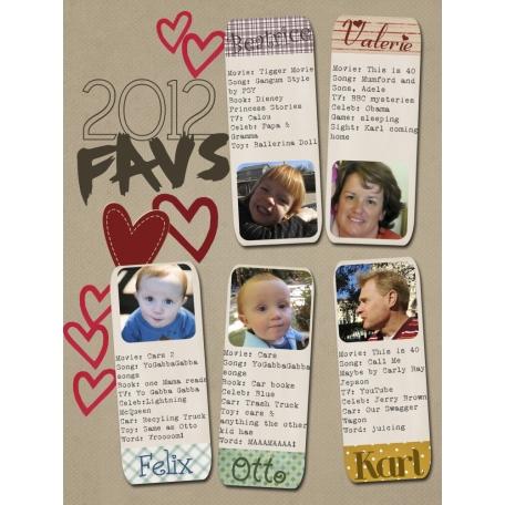 2012 Favs