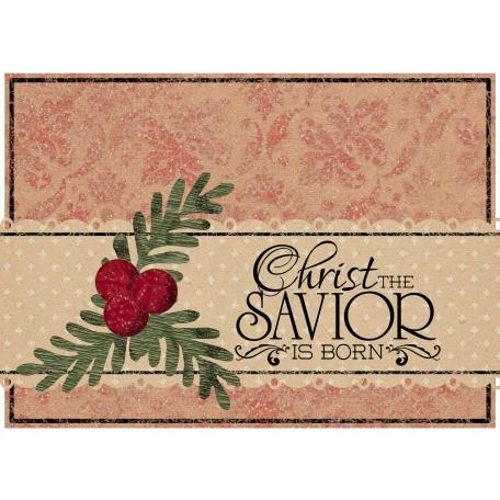 Christmas Card Christ the Savior is Born