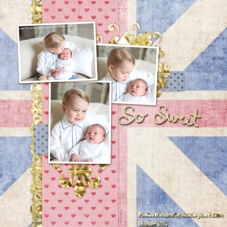 Little Prince George & baby Princess Charlotte