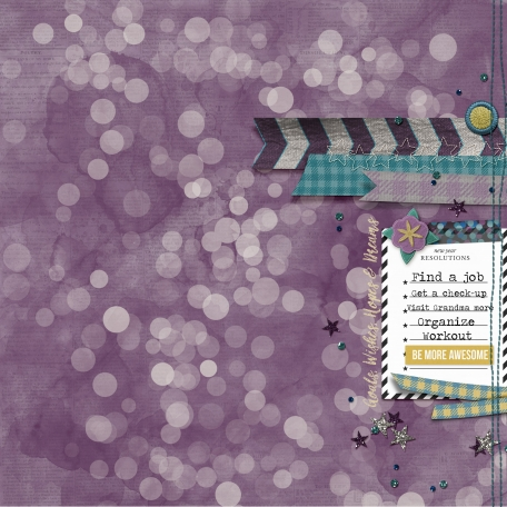 Resolutions 2017 layout made with Best Is Yet To Come 2017 digital scrapbook, project life, pocket scrapping kit by Scrumptiously at Pixel Scrapper